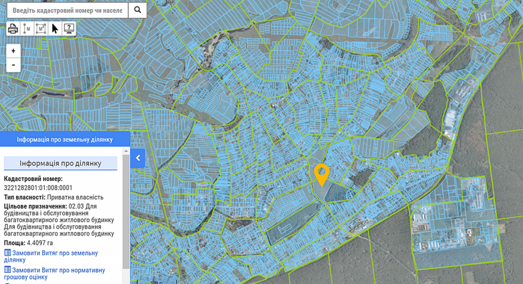 ЖК Desna Park Residence данные кадастра