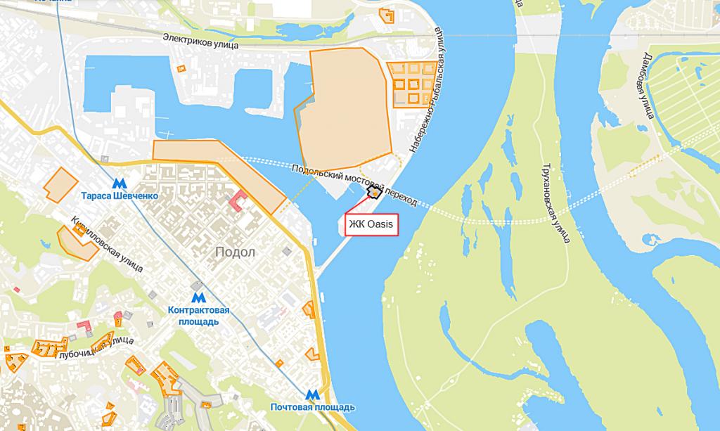 ЖК Oasis на карте