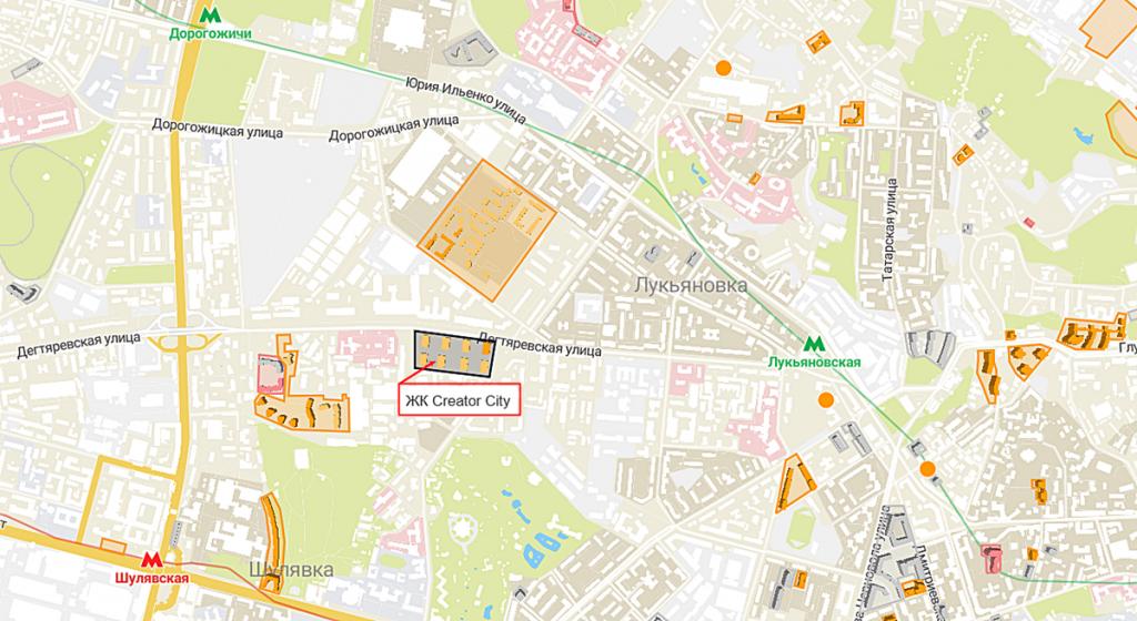 ЖК Creator City на карте