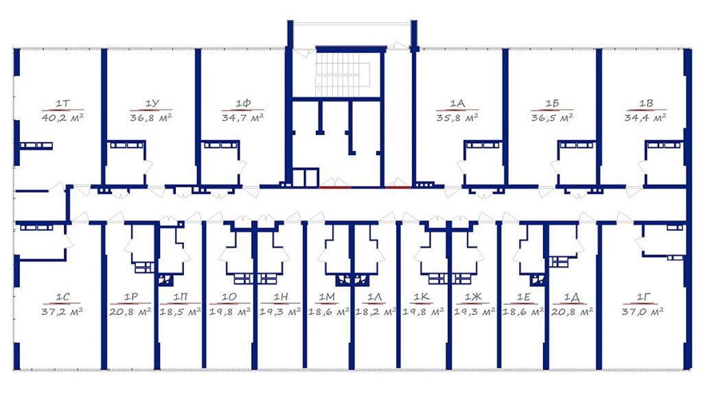 ЖК 4U план этажа для украинских инвесторов