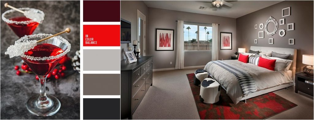 Пример цветовой гаммы для спальни