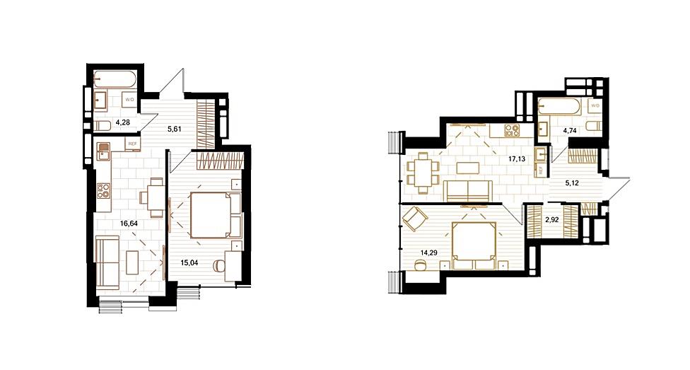 ЖК Creator City планировка однокомнатной квартиры