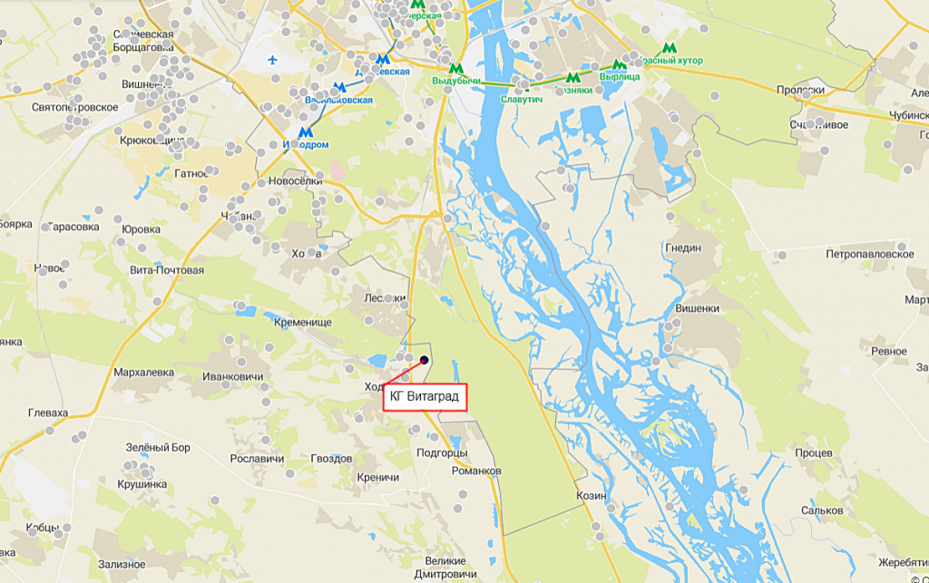 КГ Витаград на карте