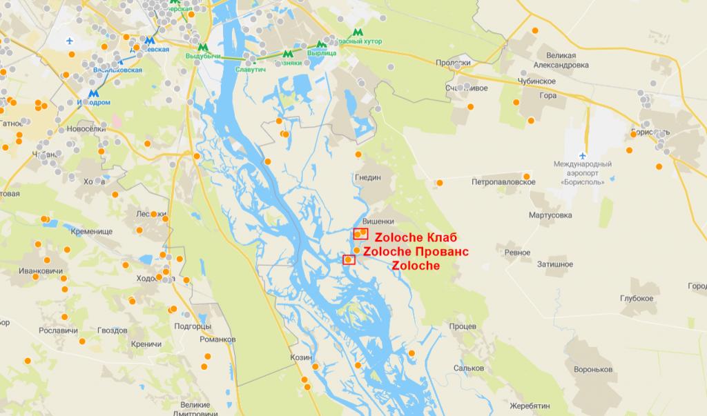 КГ Zoloche на карте