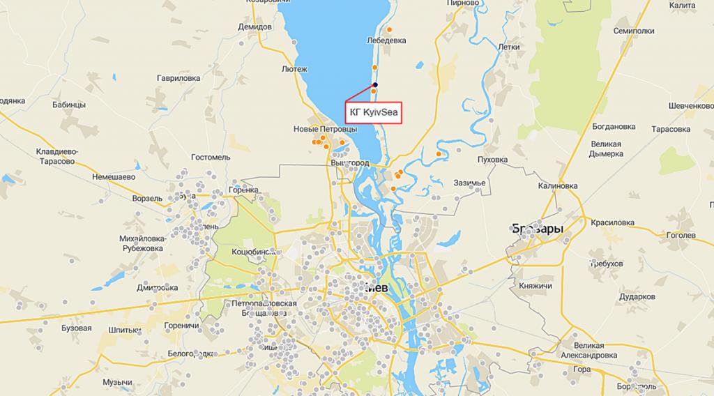 КГ KyivSea на карте