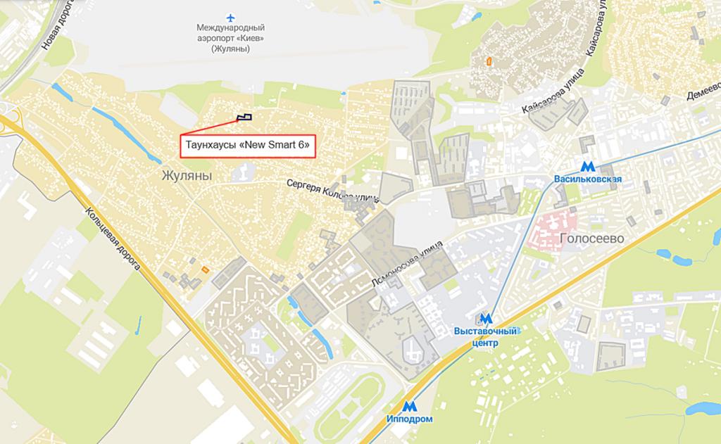 Таунхаусы «New Smart 6» на карте