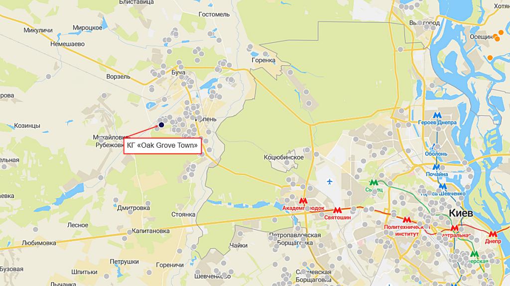 КГ Oak Grove Town на карте