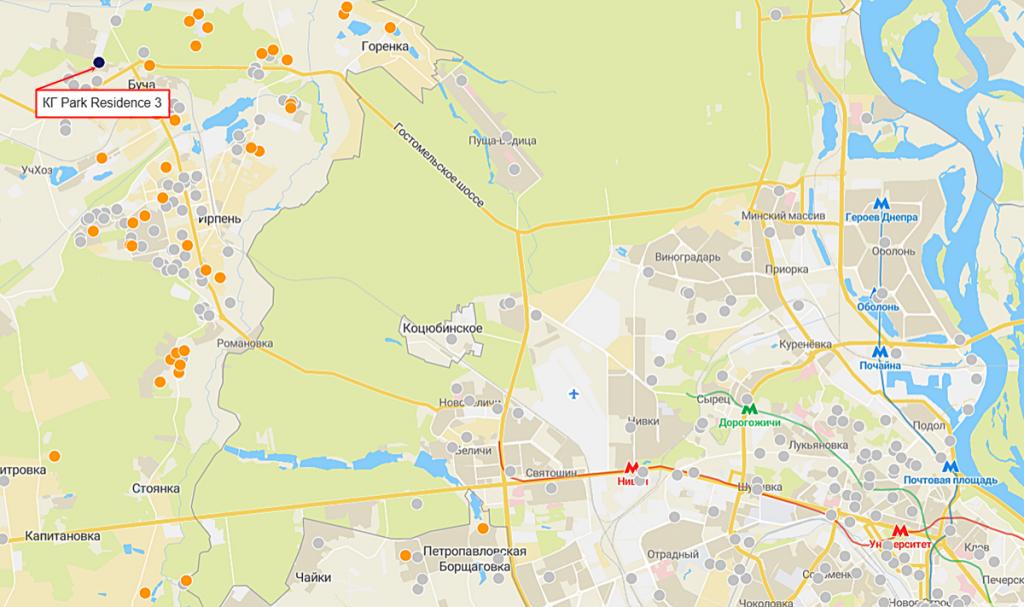 КГ Park Residence 3 на карте