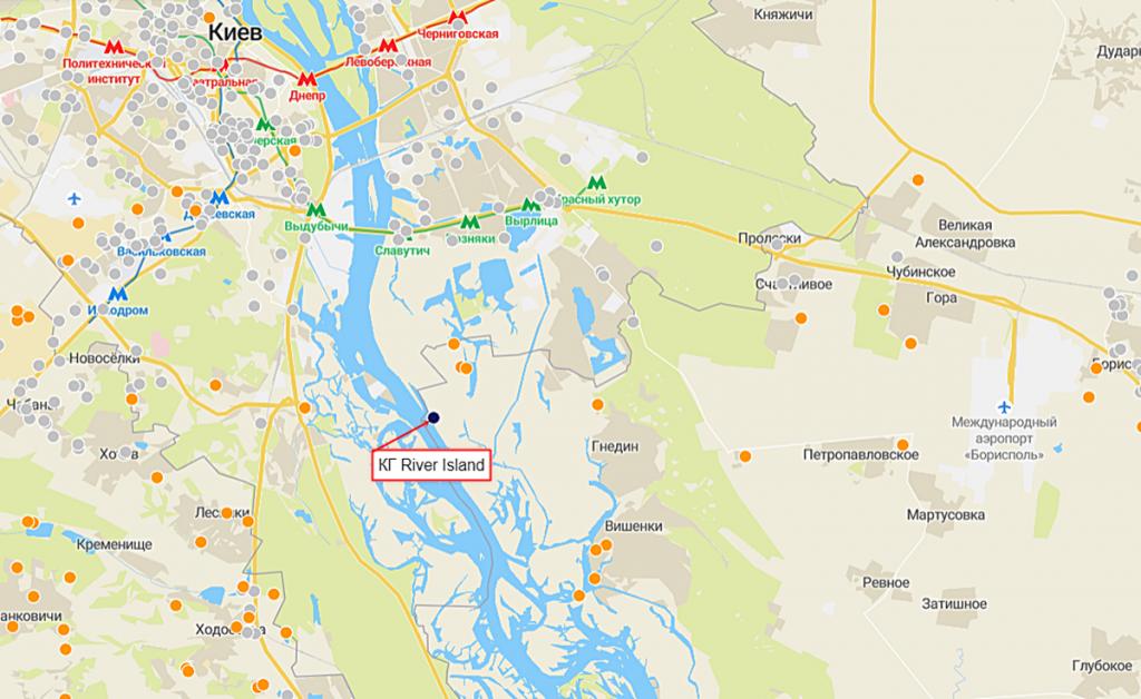 КГ River Island на карте