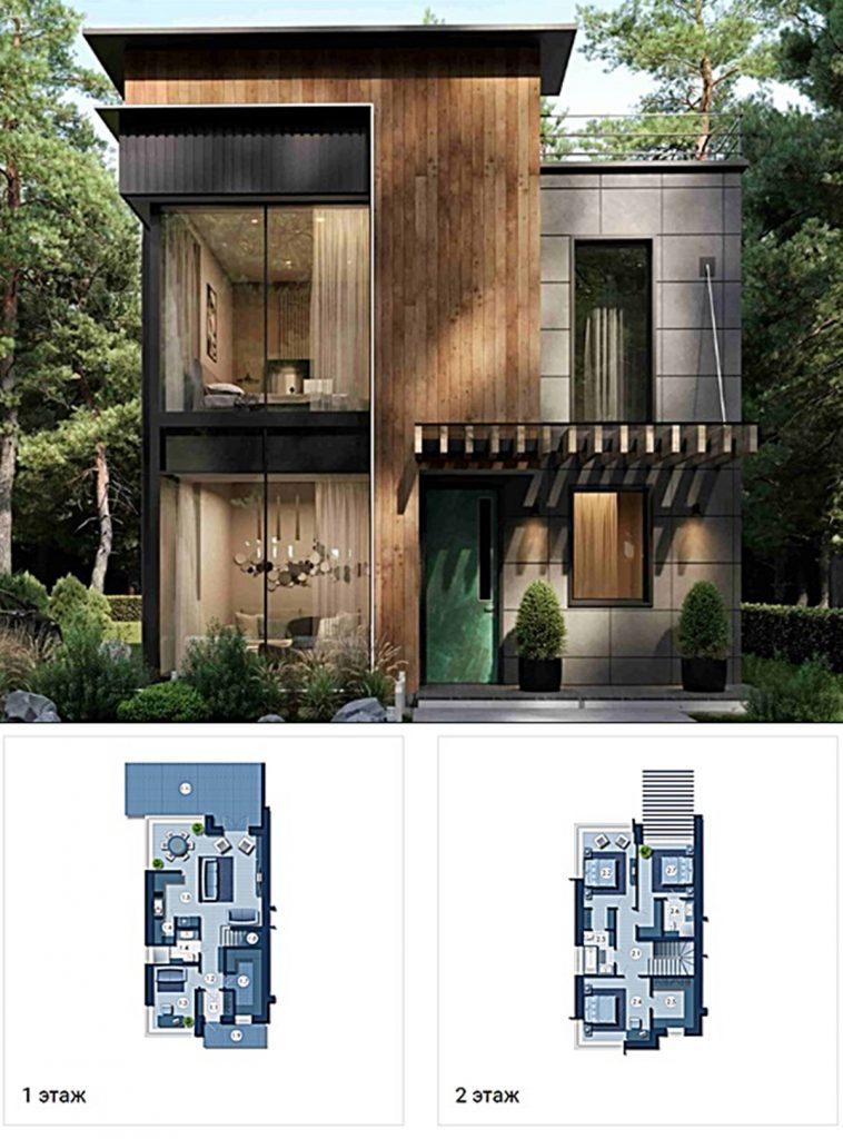 КГ Riviera Villas визуализация и пример планировки