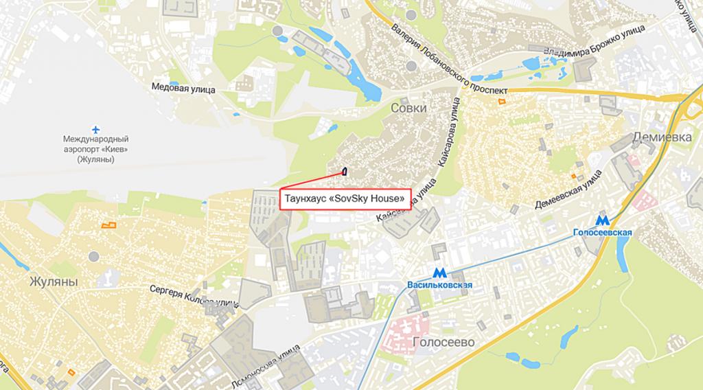 Таунхаус «SovSky House» на карте