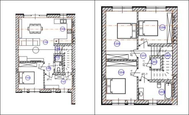 Таунхаус «SovSky House» пример планировки
