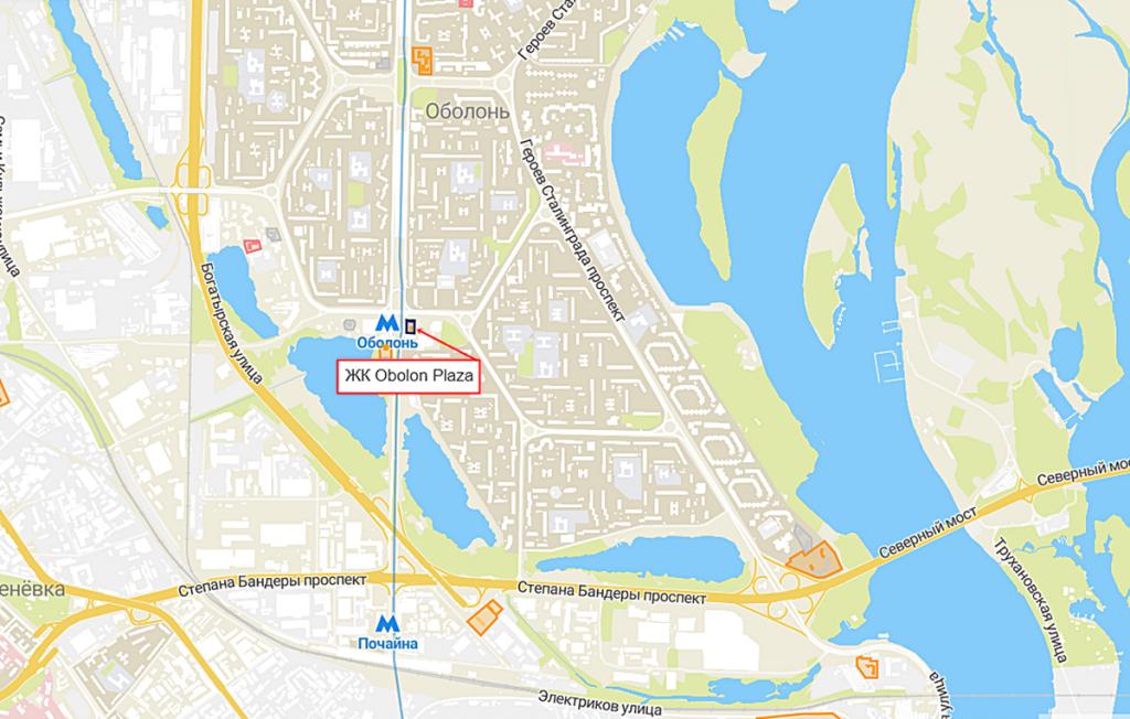 ЖК Obolon Plaza на карте