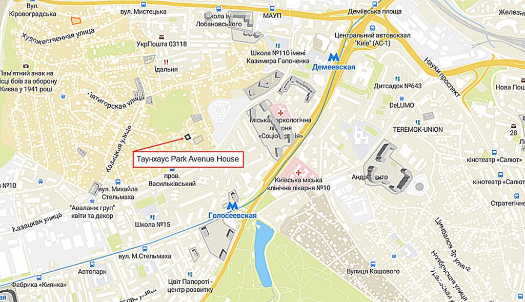 Таунхаус Park Avenue House на карте