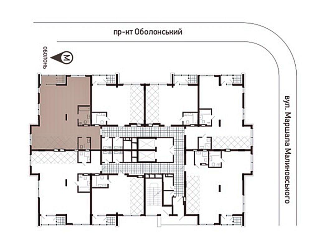 ЖК Obolon Plaza план этажа