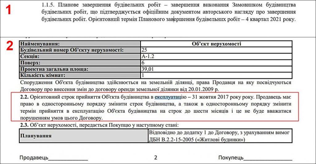 Пример описания в договоре условий переносов сроков ввода в эксплуатацию дома
