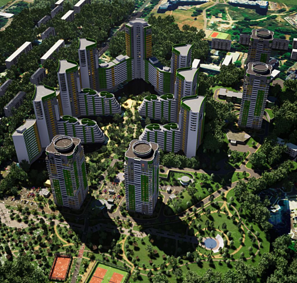 ЖК Парковый город визуализация