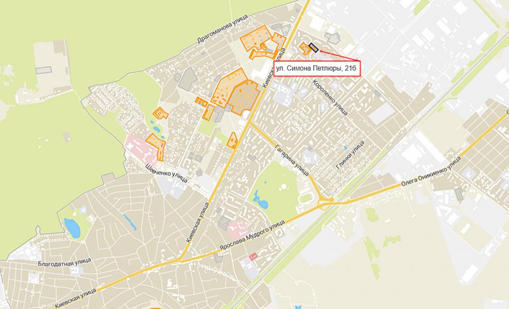 ЖК на ул. Петлюры, 21-б вид на карте
