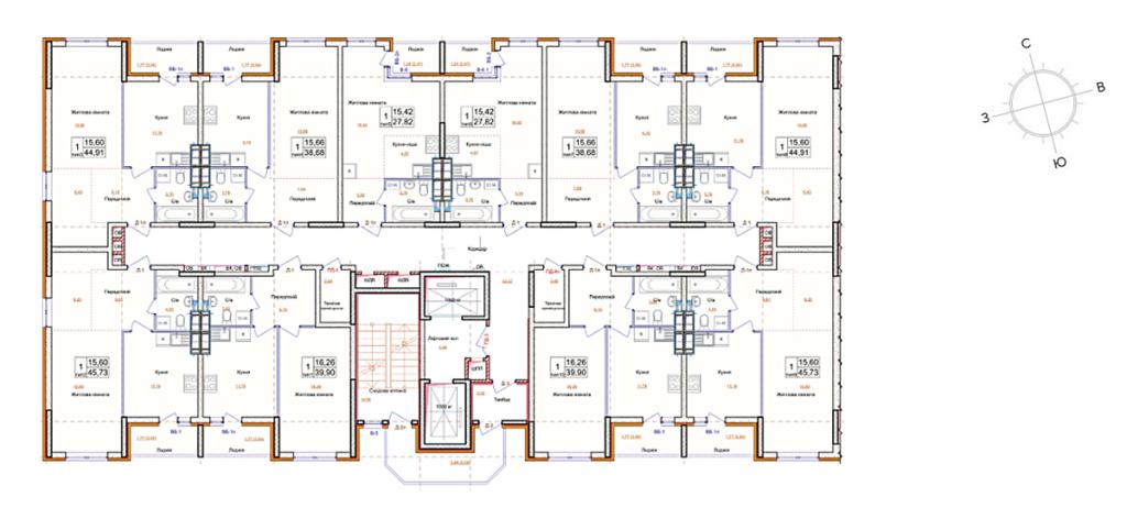 ЖК на ул. Петлюры, 21-б план этажа