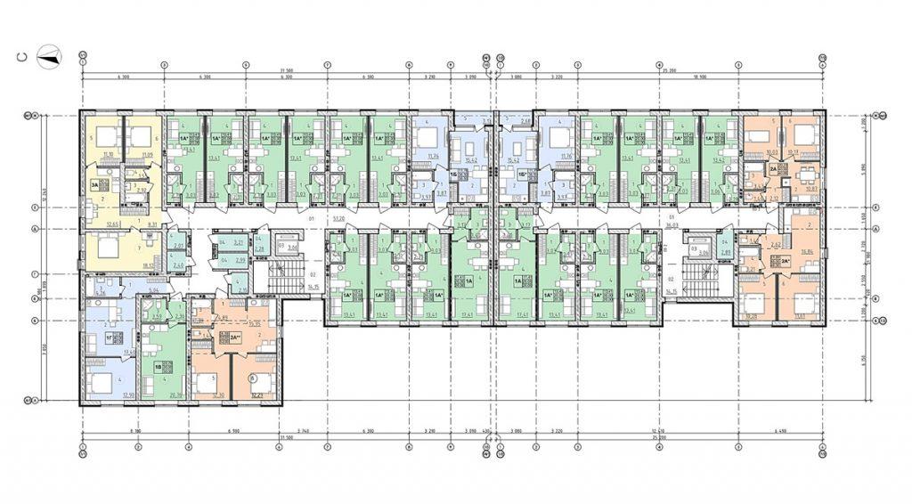 ЖК Сенсация Рок сити в Гостомеле планировка этажа