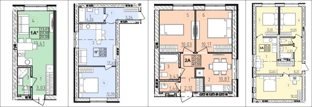 ЖК Сенсация Рок сити в Гостомеле варианты планировки квартир