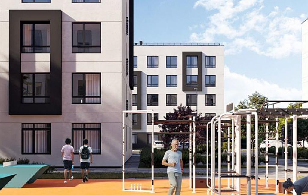 ЖК Сенсация Рок сити в Гостомеле вид фасада без балконов