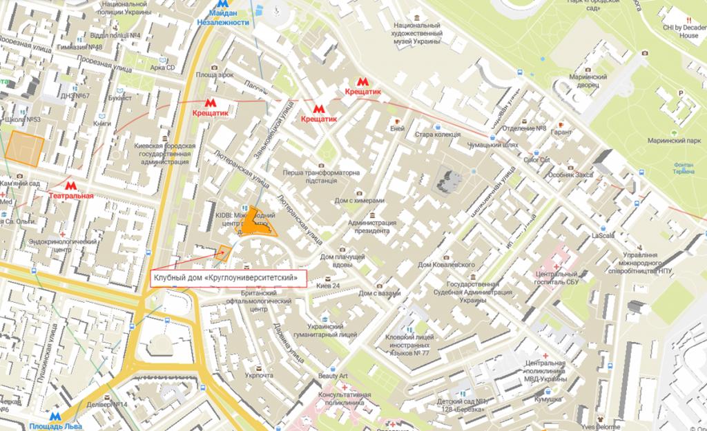 Клубный дом «Круглоуниверситетский» на карте