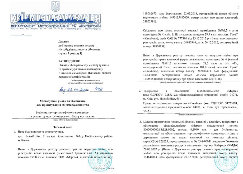 Ограничения на проектирование объекта строительства по ул. Нижний Вал, 61/Ярославская, 56-А