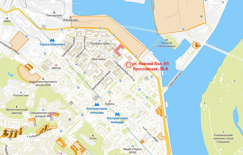 Будущий проект по ул. Нижний Вал, 61/Ярославская, 56-А на карте