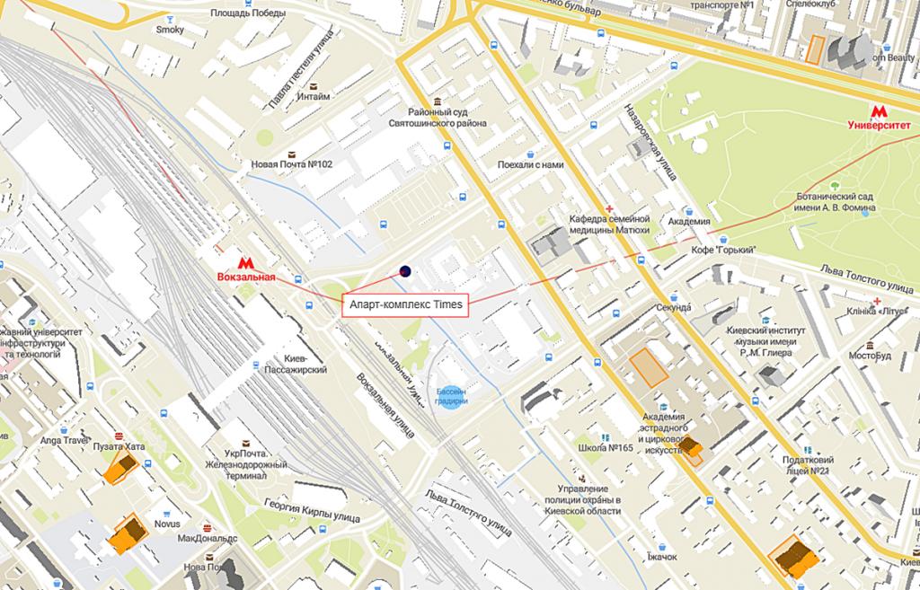 Апарт-комплекс Times на карте