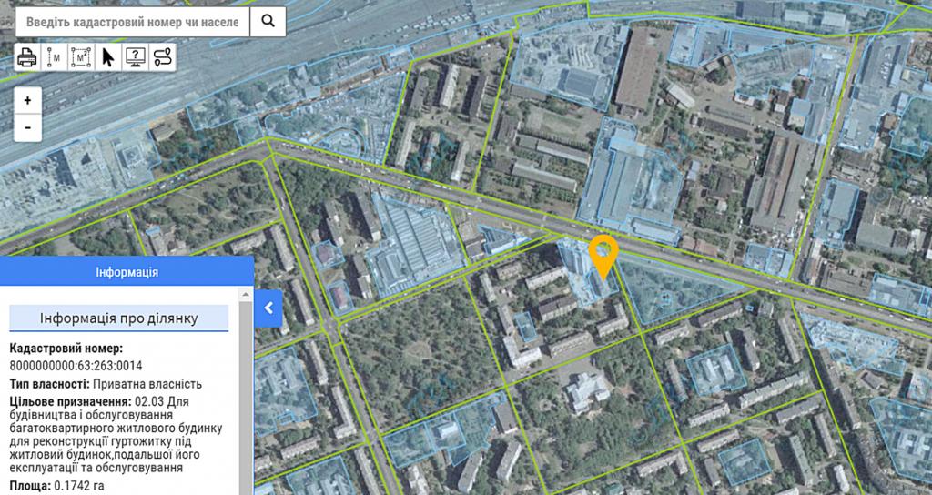 ЖК Квітень данные кадастра