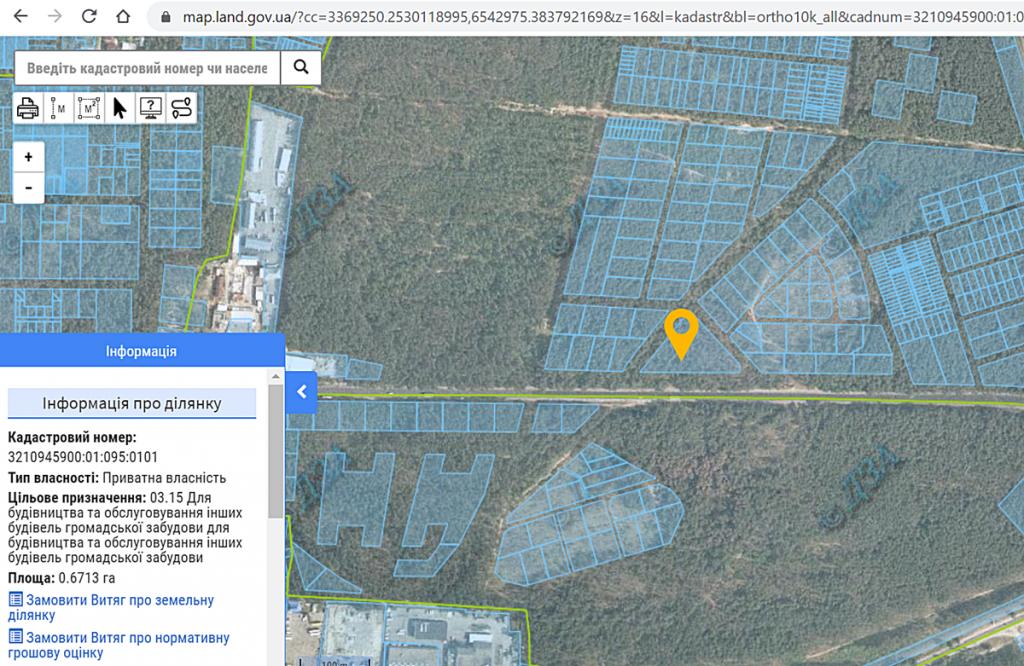 ЖК Park Town данные кадастра