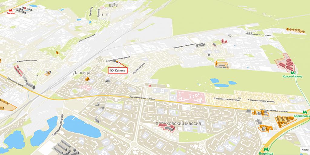 ЖК Квітень на карте