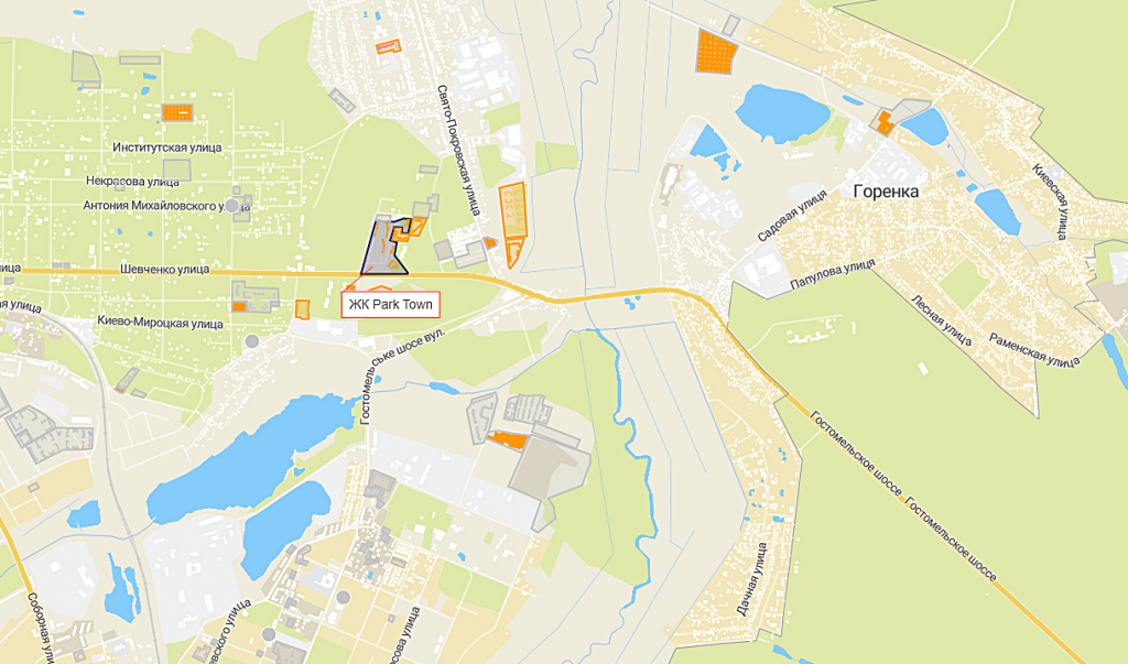 ЖК Park Town на карте