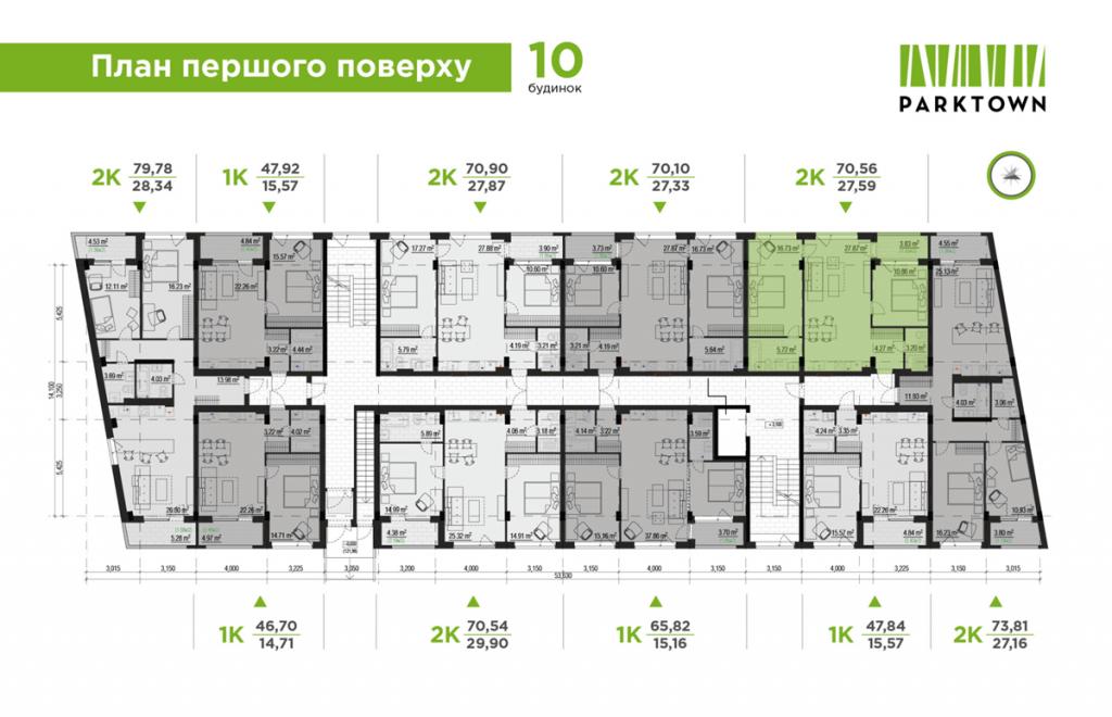 ЖК Park Town план этажа 10 дома