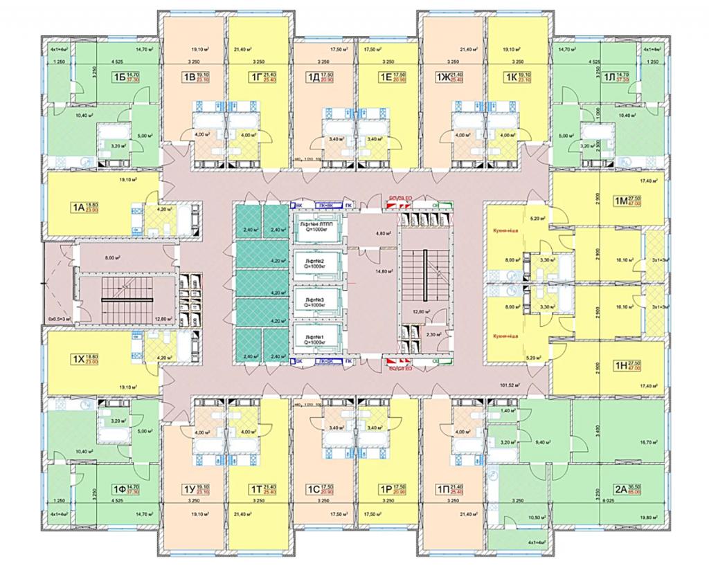 ЖК Квітень план этажа