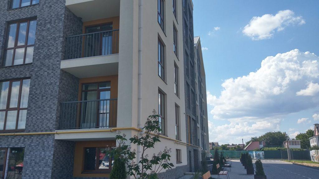 ЖК Гостомель Резиденс внешний фасад дома