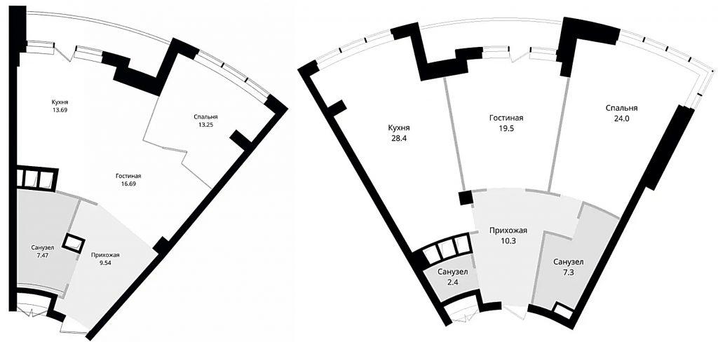 ЖК Skyline пример планировок квартир