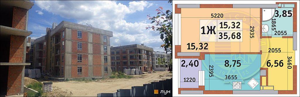 ЖК Итальянский квартал статус строительства и пример однокомнатной квартиры