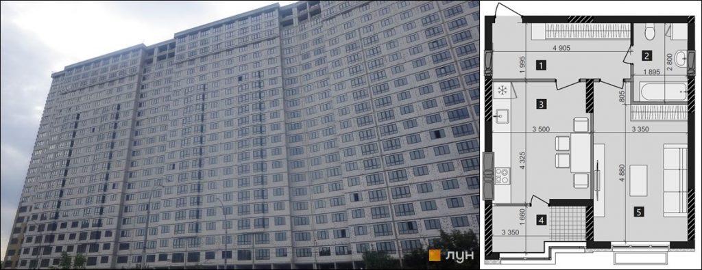 ЖК LIKO-GRAD Perfect Town ход строительства и вариант планировки однокомнатной квартиры