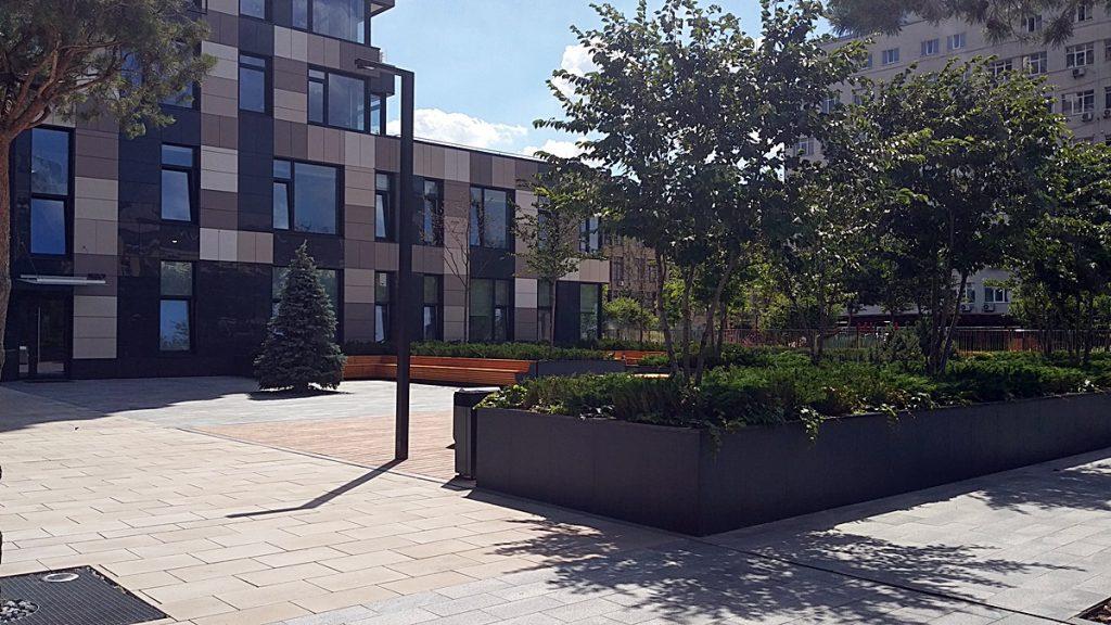 ЖК Tetris Hall внутренний двор