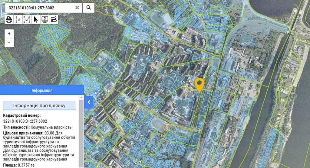 ЖК Vyshgorod Plaza данные кадастра