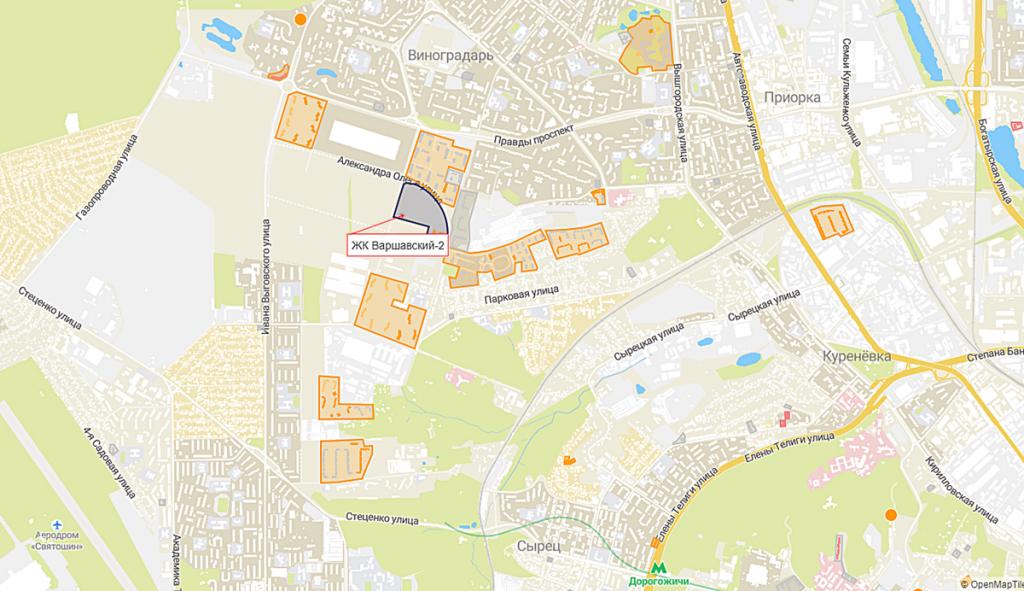 ЖК Варшавский-2 на карте