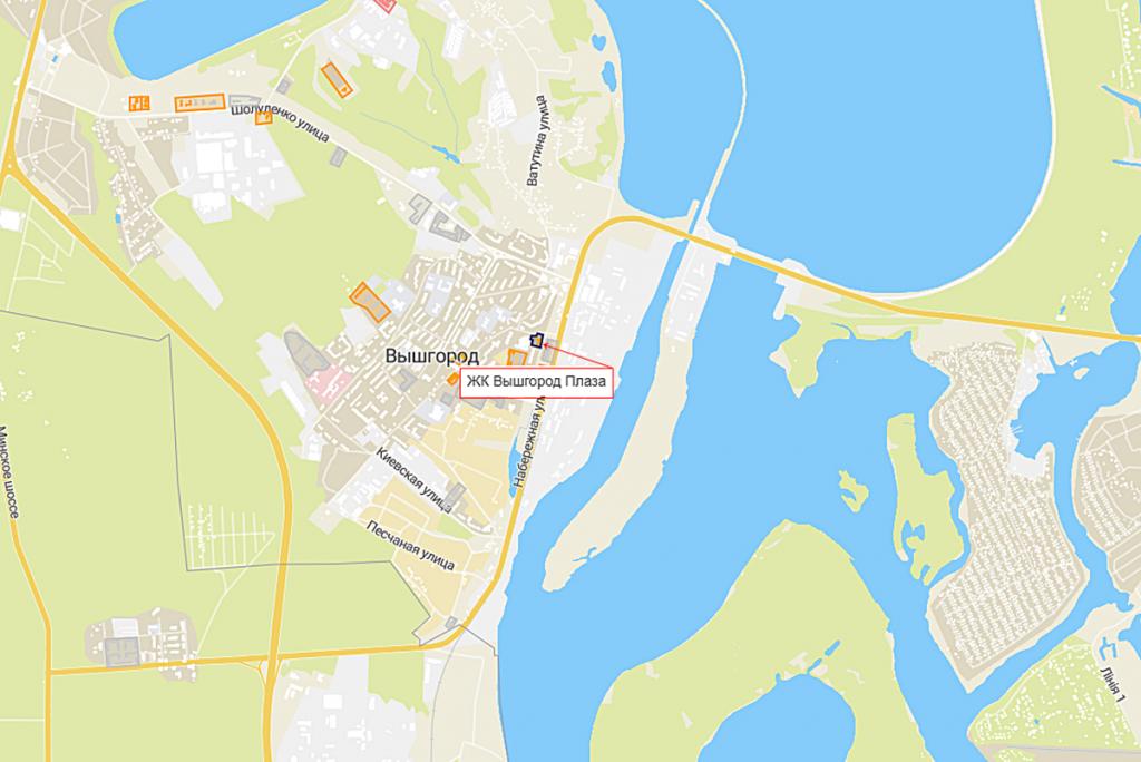 ЖК Vyshgorod Plaza на карте