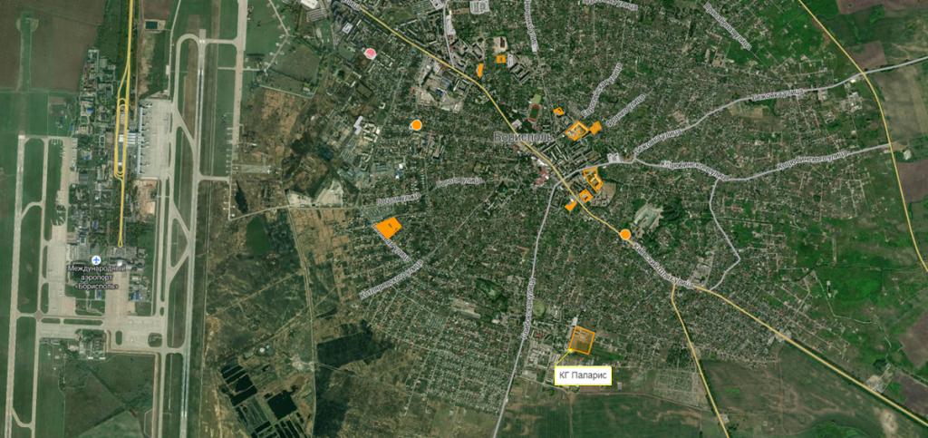 КГ Паларис на карте