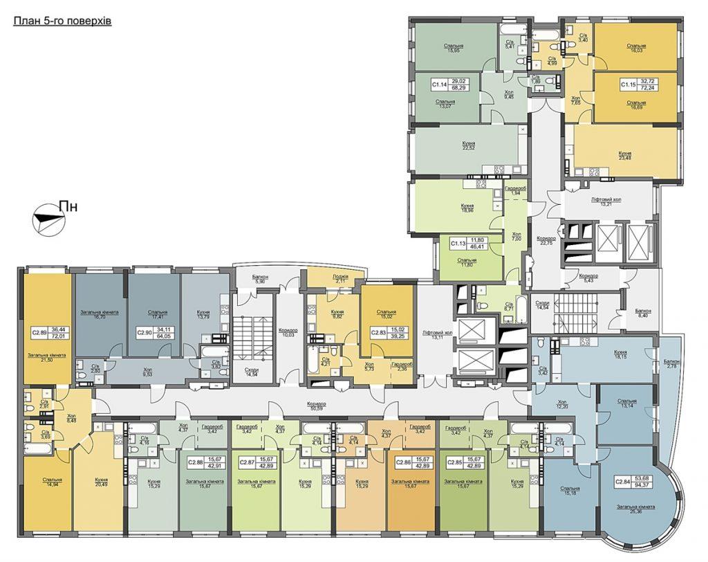 ЖК Vyshgorod Plaza план этажа