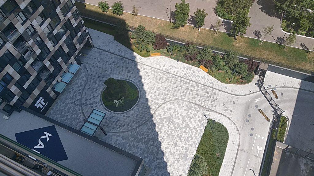 ЖК Tetris Hall внутренний парк сверху