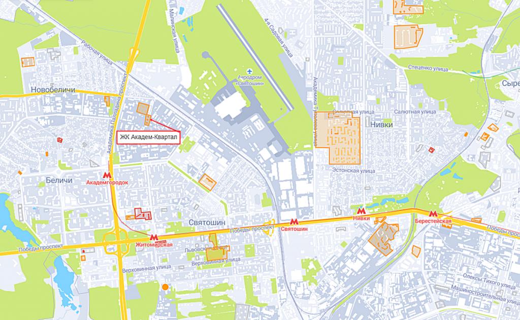 ЖК Академ-Квартал на карте
