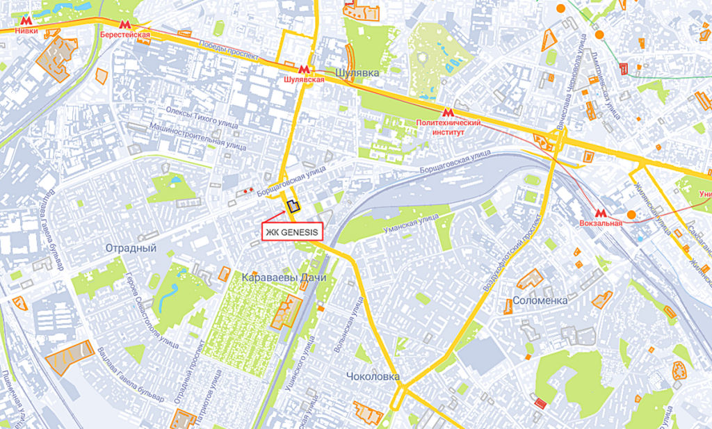 ЖК Genesis на карте