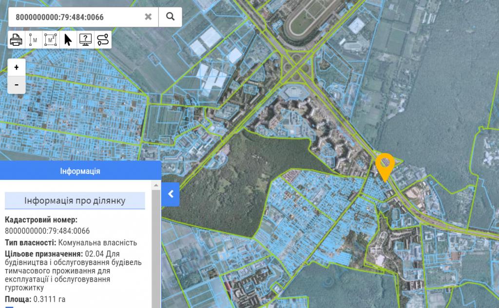 Будущий проект по ул. Заболотного, 132 данные кадастра